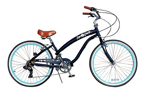 Fito Women's Modena 2.0 Aluminum Alloy 7 Speed Beach Cruiser Bike, Midnight Blue, 15.5