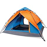 Search : 2-For-1 Easy Up Instant Dome Tent with 2 Doors for 3 Season Family Camping,Blue Orange