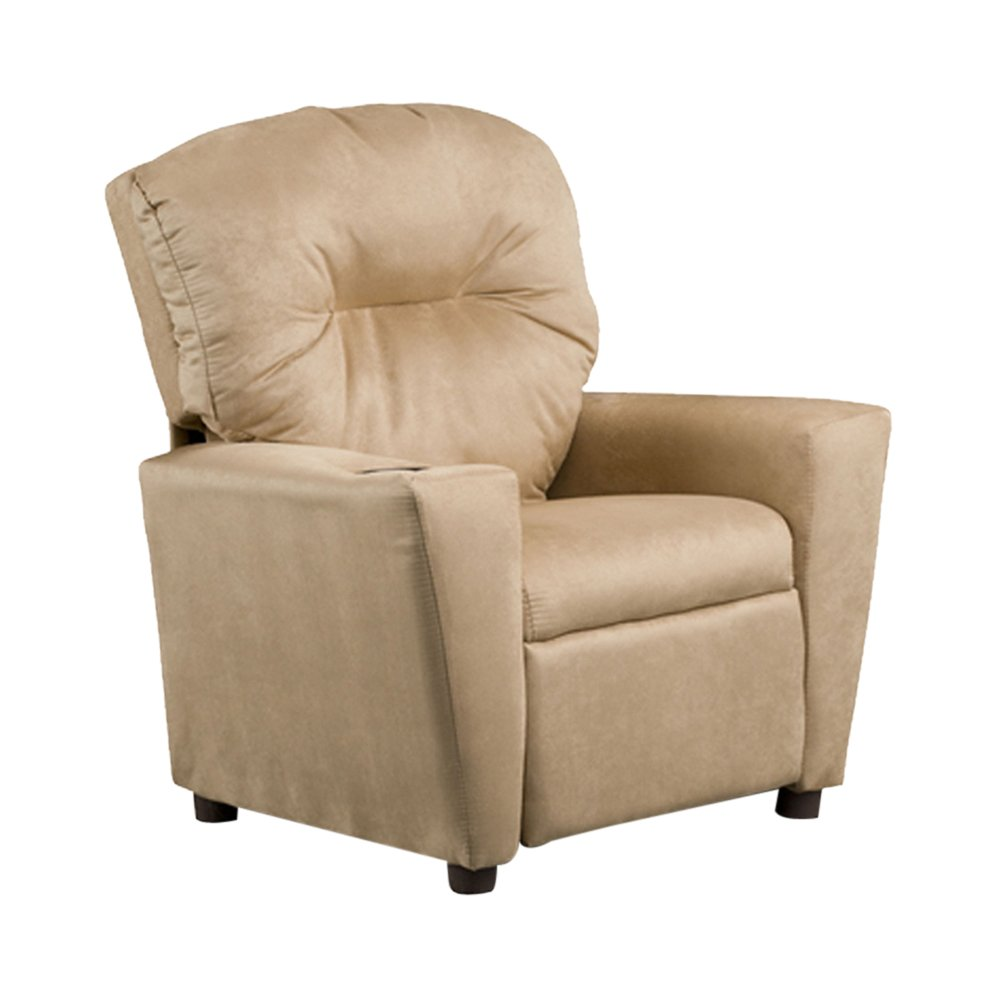 Kidzworld Home Indoor Children Camel Suede Kid's Recliner