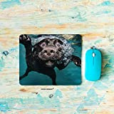 HGOD DESIGNS Gaming Mouse Pad Dog,Funny Lovely Underwater Labrador Dog Mousepad Rectangle Non-Slip Rubber Mouse Pads(7.9'X9.5')