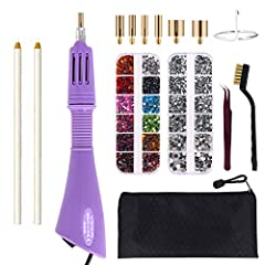 """You can have it all! Sparkle up your world in minutes with the GLTECK Hotfix Applicator Rhinestone Setter Kit. Kindly notes:  This hotfix applicator ONLY works for """"hotfix"""" rhinestones. The """"hotfix"""" rhinestone has glue at the bottom, which wi..."""