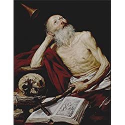 'Pereda Y Salgado Antonio De Saint Jerome 1643 ' Oil Painting, 24 X 31 Inch / 61 X 78 Cm ,printed On Perfect Effect Canvas ,this Best Price Art Decorative Prints On Canvas Is Perfectly Suitalbe For Home Theater Artwork And Home Decoration And Gifts
