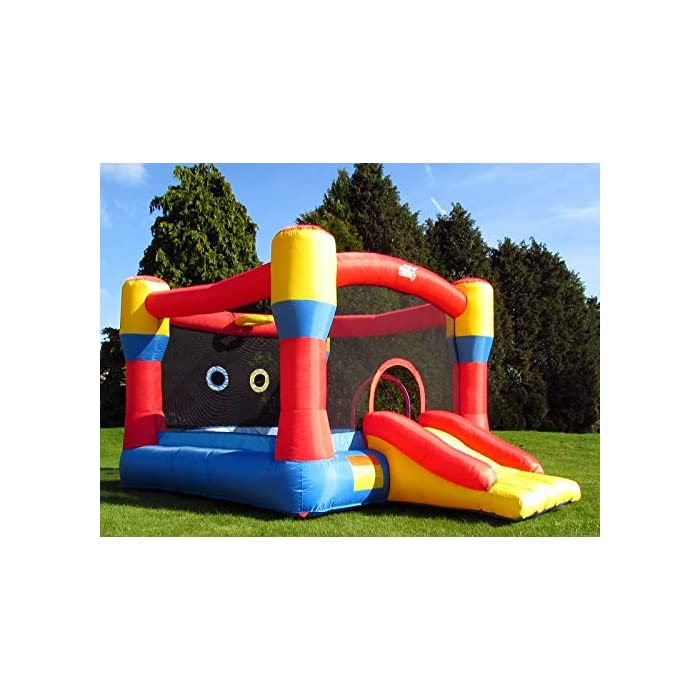 51ydygvTbjL Con una gran zona cerrada y un gran tobogán inflable Marca premium de castillos inflables para niños, con doble costura de alta calidad La instalación es rápida, en unos 3 minutos