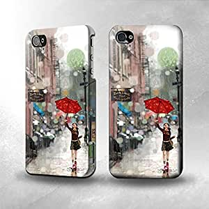 Apple iPhone 5 / 5S Case - The Best 3D Full Wrap iPhone Case - Girl in The Rain