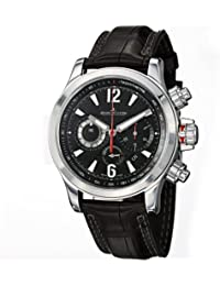 Jaeger LeCoultre Master Compressor Chronograph Black Galvanic Dial Leather Mens Watch Q1758421