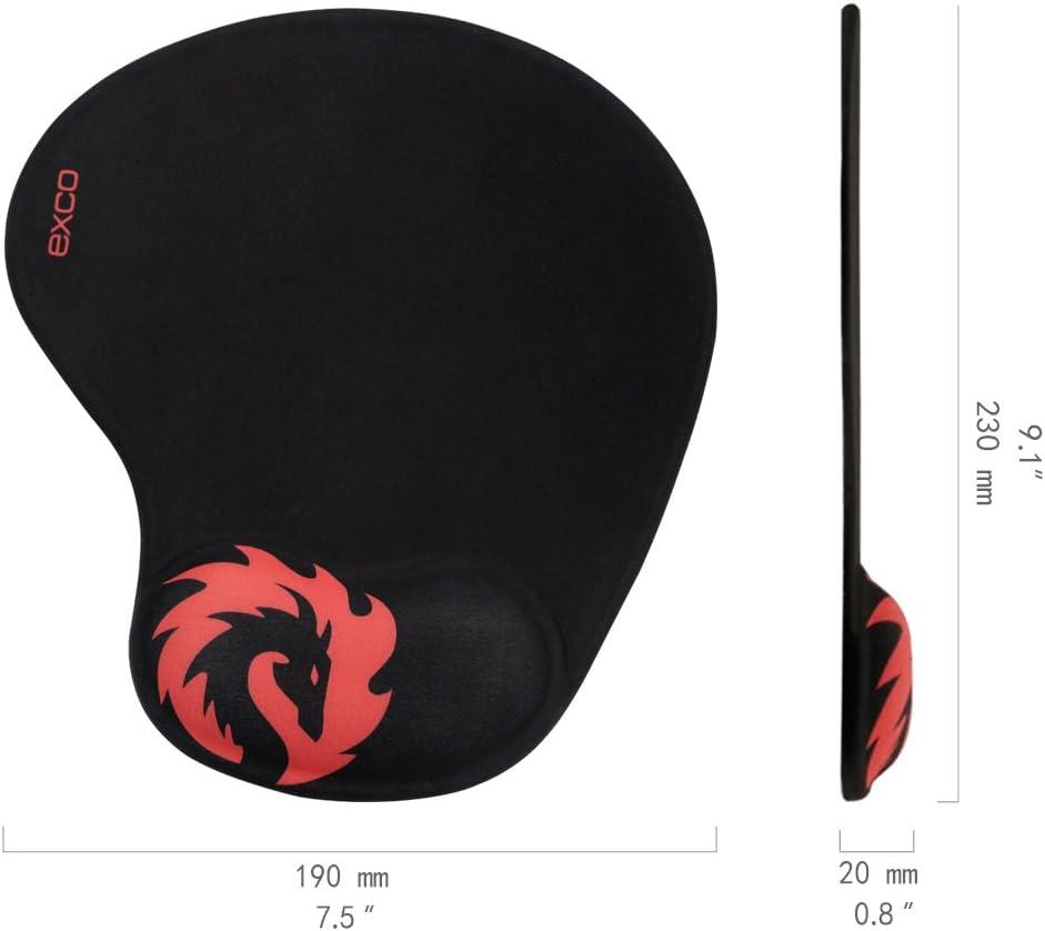 EXCO - Alfombrilla gruesa de goma antideslizante para ratón, muy grande, para juegos, oficina (Alfombrilla raton ergonomica)