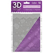 """Crafter's Companion 5"""" x 7"""" 3D Card Embossing Folder - French Lace"""