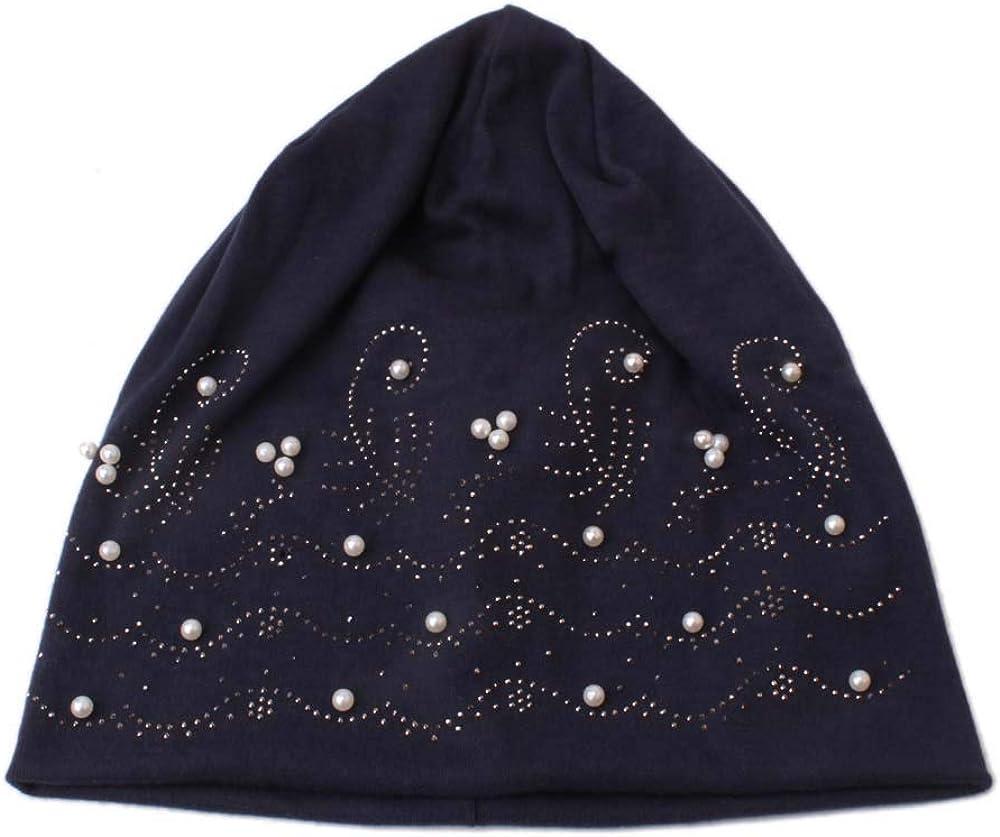 SOMESHINE Bamboo Sleep Cap for Chemo, Hair Loss, Women Stylish Thin Hip-hop Soft Stretch Knit Slouchy Beanie Hat Skull Cap