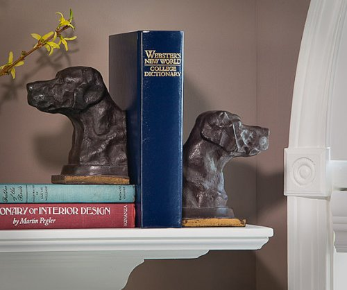KensingtonRow Home Collection Bookends - Labrador Retriever Bookends - Bronze Finish Lab Bookends - Lab Book Ends
