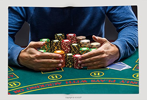 Supersoft Fleece Throw Blanket Poker Player Taking Poker Chips After Winning 366651875 by vanfan