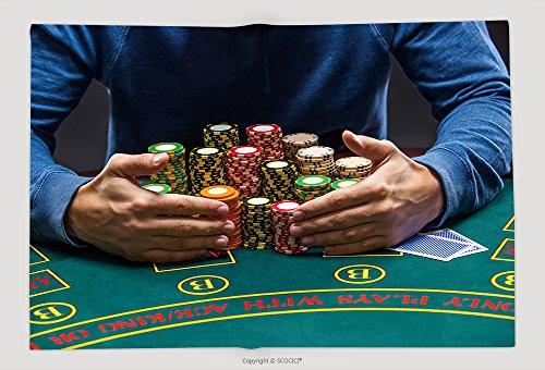 Supersoft Fleece Throw Blanket Poker Player Taking Poker Chips After Winning 366651875 by vanfan