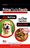 Prime Taste Treats Real Beef Liver Freeze Dried Treats, 8.8-Ounce Bags (Pack of 2), My Pet Supplies