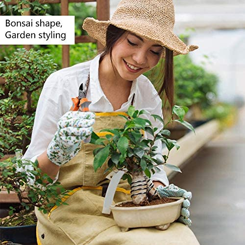 BESLIME Bonsaï en Aluminium anodisé 4Rouleaux Bonsai Tree Bonsaï de Fil en Aluminium 4 Tailles 1.0mm/1.5mm/2.0mm/2.5mm Anti-Corrosion Bonsaï Arbre Fil Noir pour DIY Travail Manuel Jardinage