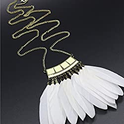 Nero 2015 Hot Fascinator Feather Necklace for Women, Jewelry Necklace for Girls