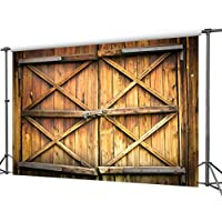 DULUDA 9X6FT Barn Door with Lock Seamless Pictorial cloth Customized photography Backdrop Background studio prop WXL17B