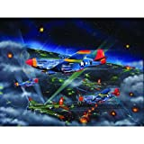 Night Fighters-The Tuskagee Airmen 500pc Jigsaw Puzzle by Robert West
