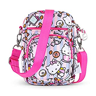 JuJuBe x Hello Kitty Mini Helix Multi-Functional Diaper Bag | Converts to Lightweight Crossbody Purse or Compartment Messenger Bag, Travel-Friendly | Hello Bakery