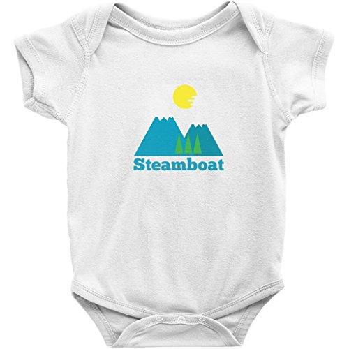Steamboat Springs, Colorado Bluebird Mountain - Unisex Infant Baby Onesie/Bodysuit (White, 24M)