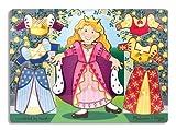Melissa & Doug Princess Dress-Up Wooden Peg Puzzle (8 pcs)