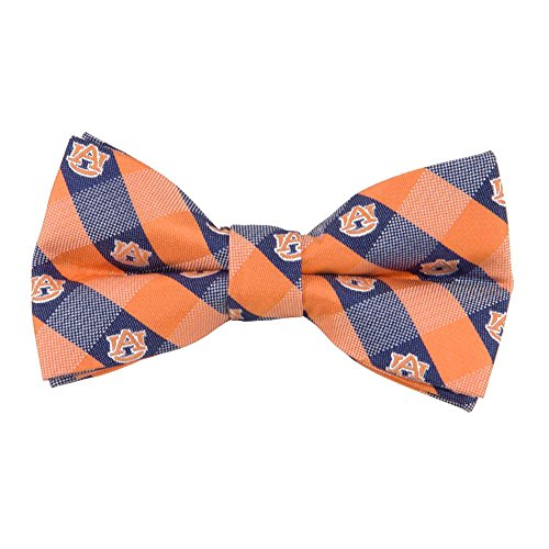 Auburn Tigers Checked Logo Bow Tie - NCAA College Team Logo