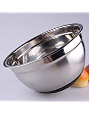 FairOnly Mixing Bowl Stainless Steel with Ergonomic Non-Slip Silicone Base Professional Kitchenware Necessities