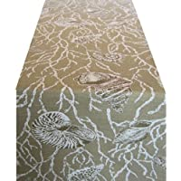 Wildflower Linen Nautical 90x18 Runner, Sand