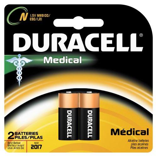 Duracell MN9100B2PK Главная Медицинская батареи, размер N (2 батареи)