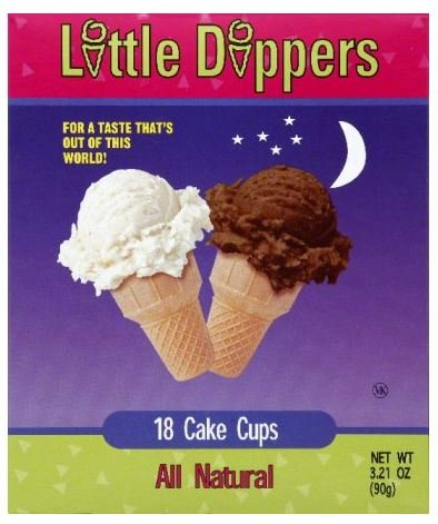 Little Dippers Ice Cream Cones, Cake Cups, 18ct, 3.21 (Vanilla Ice Cream Cone)