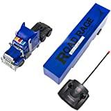 remote control 18 wheeler trucks - SumacLife Full Function Remote Controlled Blue Big Rig Semi RC Trailer Truck Toy