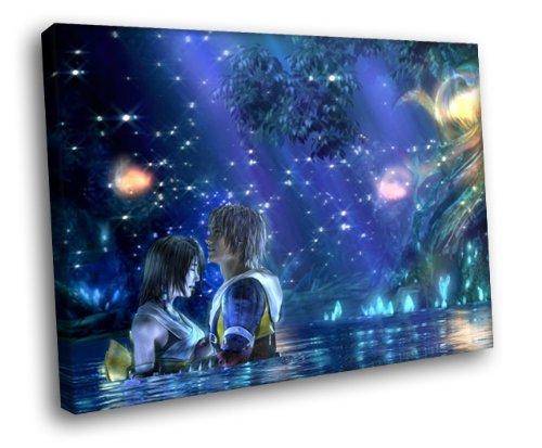 H5D9018 Final Fantasy X FF10 Romance Art 20x16 FRAMED CANVAS PRINT