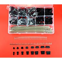 XLX 2080Pcs 2.5mm Pitch 2/ 3/ 4/ 5/ 6/ 7/ 8/ 9 Pin JST SM Male / Female Plug Housing and Male / Female Pin Header Crimp Terminal Connector Assortment Kit ( 8 Size, 160 Set, each 20 Set )