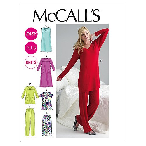 McCall's Patterns M6474 Misses'/Women's Top, Tunic, Gowns and Pants, Size B5 (8-10-12-14-16) (Pajama Sewing Pants)
