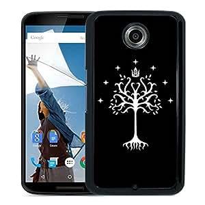 Custom Luxury Cover Case With Tree of Gondor Black Google Nexus 6 Case