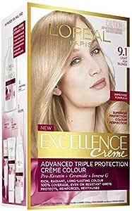 L'Oréal Paris Excellence Permanent Hair Colour - 9.1 Light Ash Blonde (100% Grey Coverage)