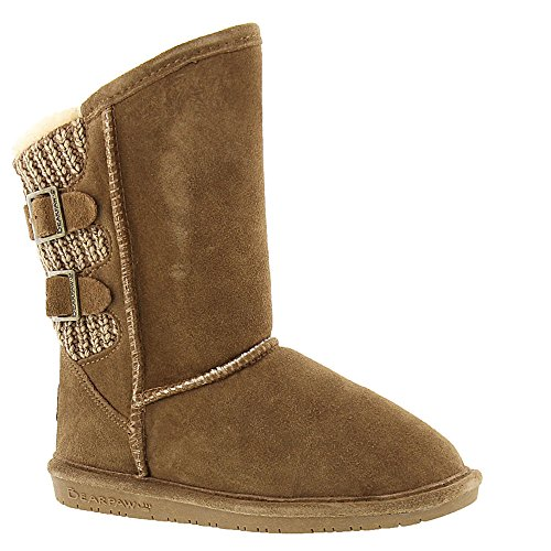 BEARPAW Girl's, Boshie Suede Boots Chestnut 1 M ()