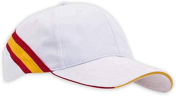 Lote DE 10 Gorras Blancas- Bandera ESPAÑA- Clasica Gorra con Bandera DE ESPAÑA: Amazon.es: Ropa y accesorios