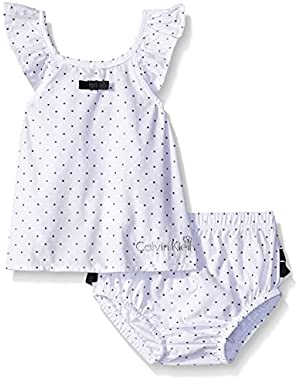 Baby Girls' Printed Foil Black/White Top with Panty
