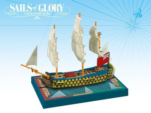 Sails Of Glory - HMS Queen Charlotte 1790 by Ares