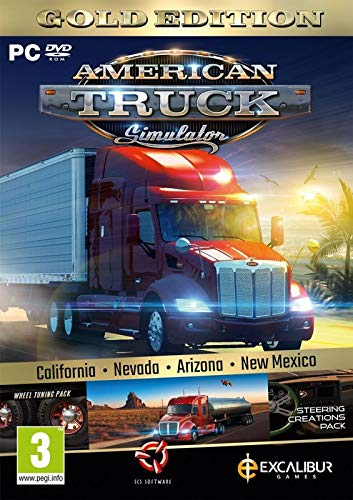 American Truck Simulator Gold (New Mexico DLC/Wheel Turning/Steering Creations) (PC DVD) (UK IMPORT) (Truck Games For Ps3)