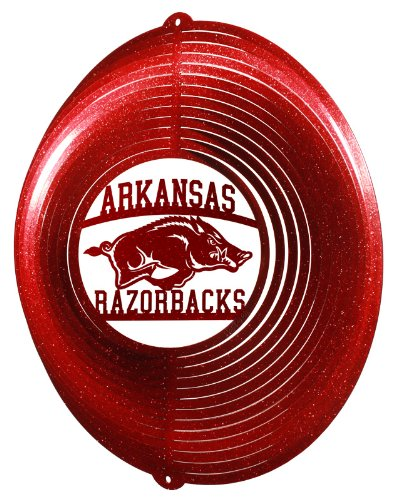 (SWEN Products ARKANSAS RAZORBACKS Circle Swirly Metal Wind Spinner)