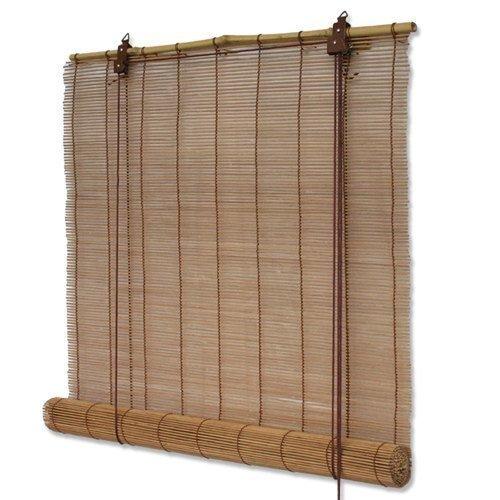 Interdeco Bambusrollo mit Seitenzug in Braun, Mariko, 160 x 160 cm