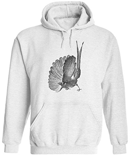 Austin Ink Apparel Unisex Mens Great Argus Pheasant Pullover Hooded Sweatshirt (White, 2XL)