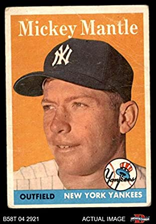 Amazoncom 1958 Topps 150 Mickey Mantle New York Yankees