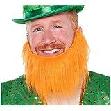 "St. Patrick's Day Leprechaun Beard Costume Party Accessory Favour (1 Piece), Orange, 7 1/2""."