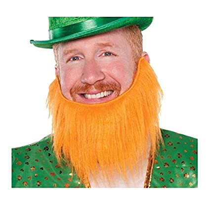 Amazon.com  Amscan St. Patrick s Day Orange Leprechaun Beard  b0b53fa1bab0