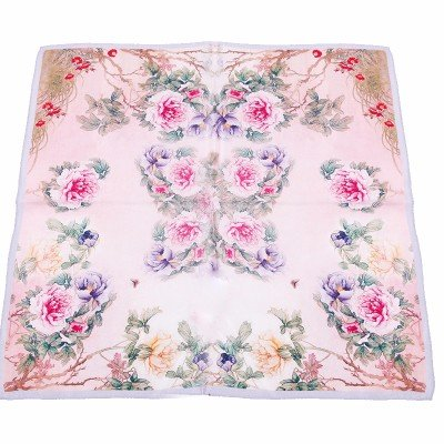 [FLYRCX Airline stewardess scarf silk scarf lady Bank of spring and autumn mulberry silk silk small square 55cm55cm,C] (Costumes Denton)