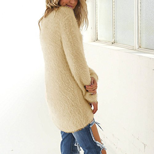 Sweatshirt Tops Casual Femme Pull Chaud Longues Chandail Semen Cardigan Abricot Loose Over Manches Pull Manteau 4PxHTqZ
