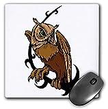3dRose Edmond Hogge Jr – Tattoos - Brown Owl Tattoo - Mousepad