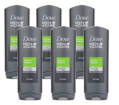 Dove Men + Care Body & Face Wash, Extra Fresh 18 oz (6 Pack)