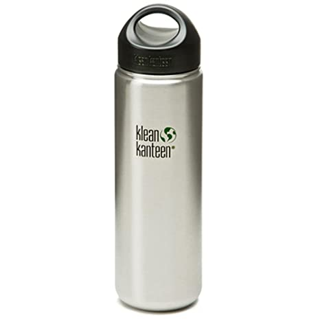 045e03b4c2 Amazon.com : Klean Kanteen Wide Mouth Stainless Steel Water Bottle ...